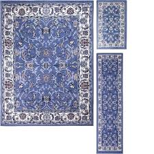 brilliant home 3 piece blue area rug set reviews sets plan rugs setup in living room