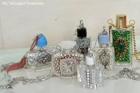 How To Decorate Perfume Bottles Recycled Perfume Bottles Decoration Pieces Recycled Things 1