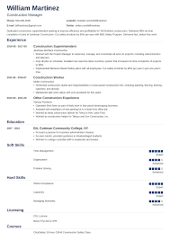 Example Of Construction Resume Construction Worker Resume Sample Guide 20 Examples