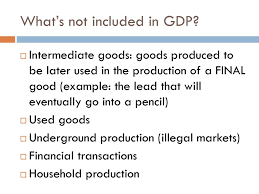 What Is Not Included In Gdp What Is The Gdp Ppt Download