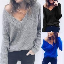 6 Color <b>New Fashion</b> Autumn <b>Winter Women</b> Pullovers <b>Women's</b> ...