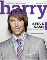 Harry Rosen features Canadian icon Steve Nash on the cover of Harry Magazine for Spring 2010. (CNW Group/Harry Rosen Inc.) - carousel