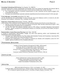 resume sample international human resources executive page 2 sample human resources resumes