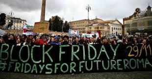 Risultati immagini per manifestazioni clima no black friday