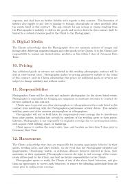 Photography Contract Template Free Uk Word Wedding Event Pdf Doc