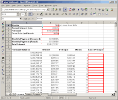 Amortization Schedule Mortgage Spreadsheet