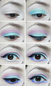 but you can pair black liner and lipstick with a bunch of pastel shadows