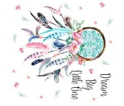 Hawaiian Dream Catcher 100X100 Pink Aqua Dream Catcher with Quote Dream Big Little 59