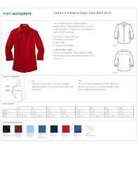 Port Authority Clothing Ladies Size Chart Summer Cook