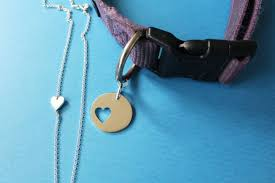 pieces are soldered closed for extra security so they won t open during playtime round dog collar tag is 1 in diameter and the heart pendant is about
