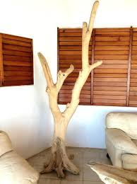 rustic standing coat rack wooden tree stand by free