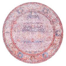nuloom vintage medallion elmer blush 5 ft x 5 ft round area rug