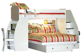 trundle bed with desk wood loft
