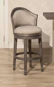 hilale monae swivel bar stool dark gray woven fabric wood stools wooden kitchen with backs clear