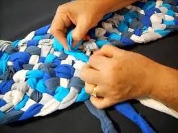 5 strand braid in runner rag rug part 1