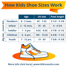 Little Kid Big Kid Shoe Size Chart Kids Shoe Sizes Conversion Charts Size By Age How To