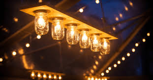 mason jar lighting fixture. Hanging Mason Jar Lights Lighting Fixture