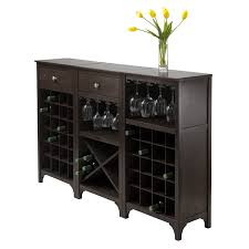 Amazon Winsome Ancona Wine Cabinet with Glass Rack Kitchen