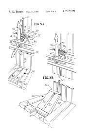 patent us4232599 waste paper compacter front access patent drawing