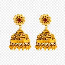 Jewelry Design Png Gold Earrings