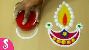 Easy Diya Rangoli Designs For Diwali Quick Easy Diya Rangoli Design For Special Diwali By Husband