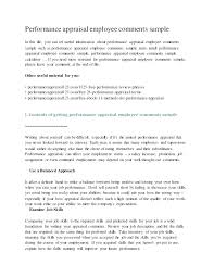 Sample Annual Performance Review Annual Appraisal Template Yoyoshotel Info
