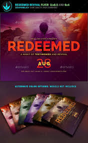 revival flyers templates redeemed revival church flyer template flyer template churches