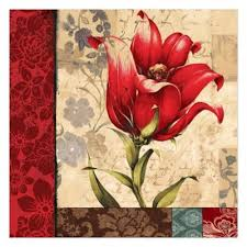 >buy tulips canvas art from bed bath beyond pied piper creative regal red flower 20 inch x 20 inch canvas wall art
