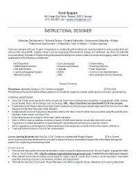 Instructional Design Resume Instructional Designer Resume Sample Foodcity Me