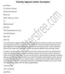 Charity Appeal Letter Examples Sample Appeal Letter Format