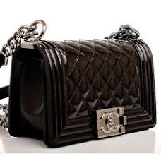 CHANEL Calfskin Double Stitch Small Boy Flap Black ❤ liked on ... & View this item and discover similar handbags and purses for sale at - Chanel  black quilted patent leather Small Boy Bag with ruthenium hardware, front  flap ... Adamdwight.com