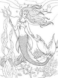 creative haven mermaids coloring book dover publications