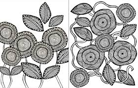 Small Picture Free Printable Complex Coloring Pages modern floral