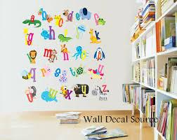 reusable abc wall decal animal alphabet