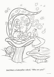 Small Picture Alice In Wonderland Caterpillar Coloring Pages Coloring Home