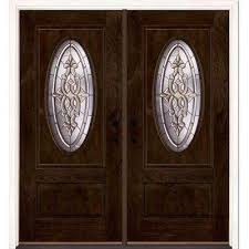 74 in x81 625in silverdale patina 3 4 oval lt stained chestnut
