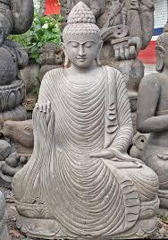 buddha garden statue. Stone Buddha Garden Statue With Flowing Robe 57\