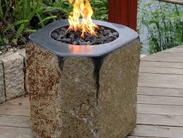basalt fire table by stone age creations