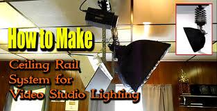 track lighting rails. Track Lighting Rails. How To Make Ceiling Rail System For Video Studio Rails