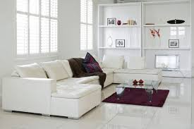 White Gloss Furniture For Living Room Living Room White Lacquered Wood Coffe Table With Brown Leather