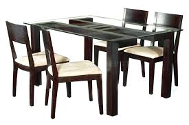 wood dining table set wooden and chairs philippines with glass top