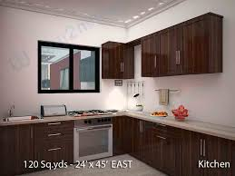 Kitchen Room Interior Way2nirman 120 Sq Yds 24x45 Sq Ft East Face House 1bhk Elevation