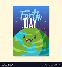 Earth Day Poster Flyer Template Green Planet