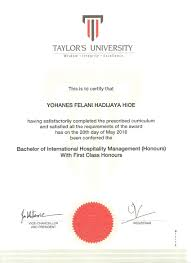 academic activities yohanes felani hadijaya academic transcript