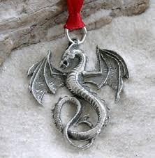Amazon.com: Pewter Dragon Gothic Fantasy Christmas Ornament and ...
