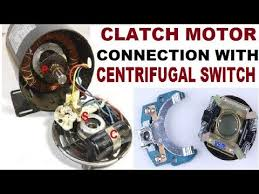 single phase clutch centrifugal switch motor connection with diagram part 2