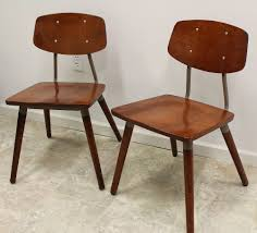 mid century industrial furniture. Mid Century Modern Industrial Pair Of Hill-Rom Chairs Attr. Raymond Loewy Retro Furniture