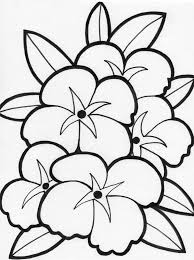 free printable flower coloring pages for kids wealth single flower coloring pages spring flo 15276