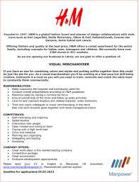 resume visual merchandiser