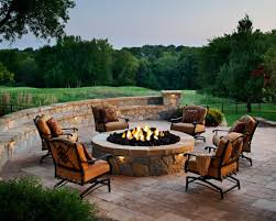 round fire pit for entertaining